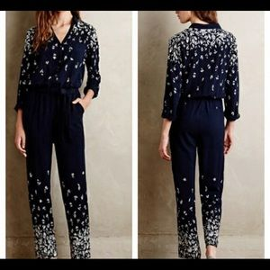 Anthropologie Lakeshore Lilka Jumpsuit, XSP EUC